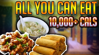 10,000+ Calorie Cheat Meal | All you can eat Chinese buffet | Food Challenge
