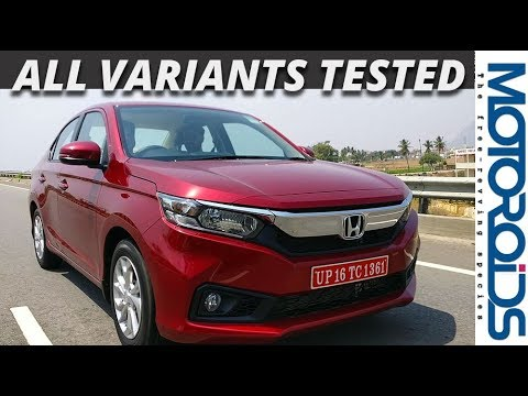New 2018 Honda Amaze Review - Diesel / Petrol CVT and Manual tested to the  last detail