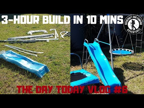The Day Today Vlog ep 7 - Time-lapse swing set build!