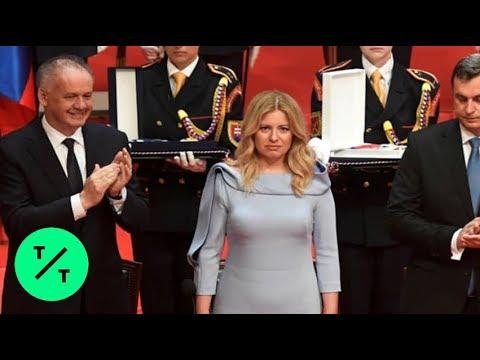Slovakia Swears In First Female President Zuzana Caputova