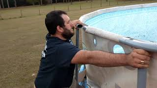 How to move an above ground pool the Summer Waves 16 foot pool