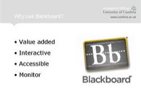 The Use of Blackboard as a Training Opportunity