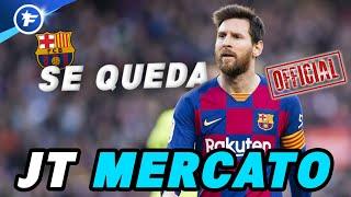 OFFICIEL : Lionel Messi annonce qu'il reste au FC Barcelone | Journal du Mercato