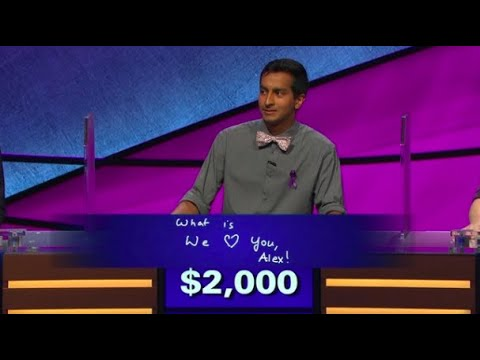 'We love you, Alex:' Alex Trebek gets emotional over 'Jeopardy!' contestant's answer video screenshot