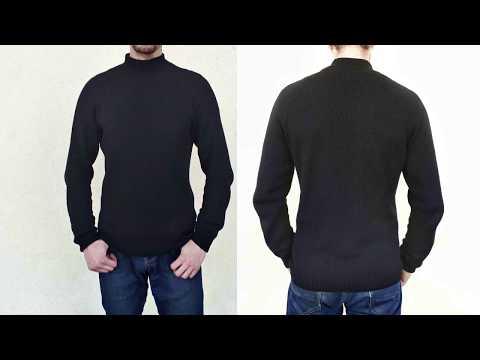 Реглан сверху спицами - расчеты/ Мужской свитер спицами