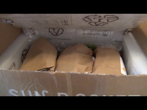New Sun Basket Organic Home Meal Delivery Box Unboxing - Blue Apron Comparison