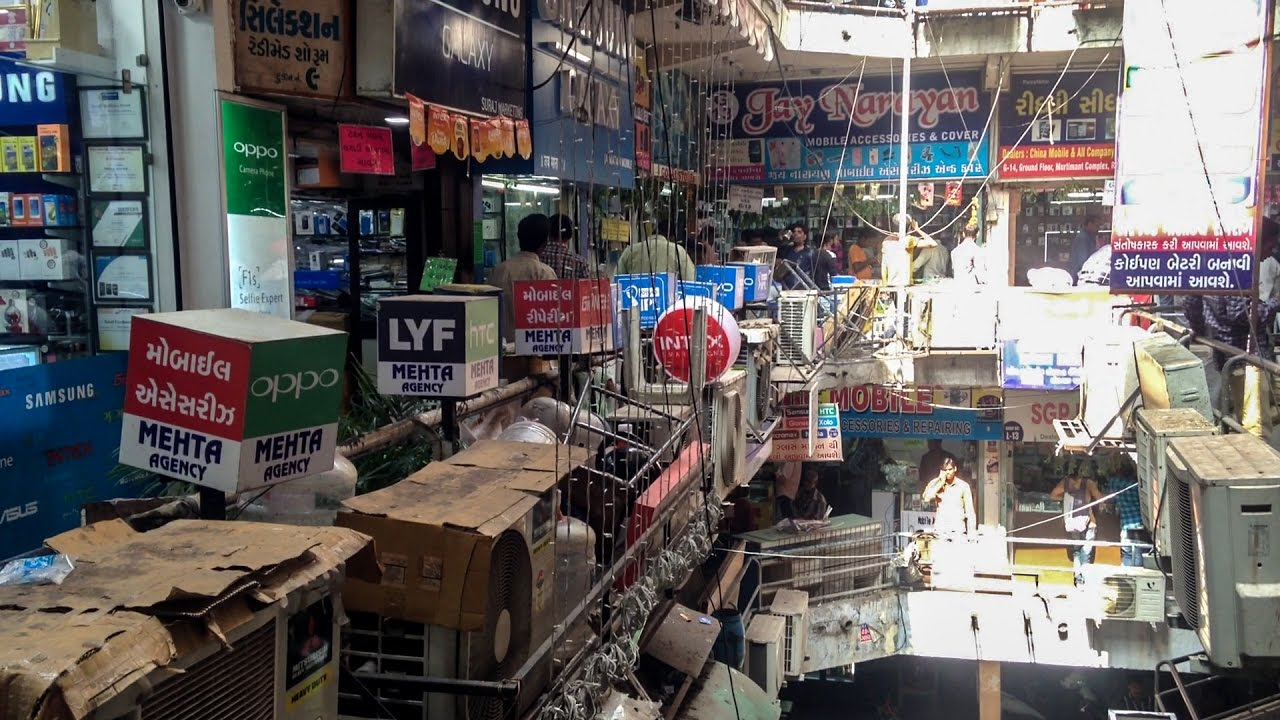 Mobile Market In Ahmedabad | Relief Road | Cheap Rates