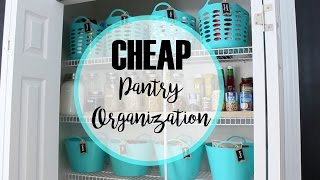How to organize a pantry   Cheap Makeover