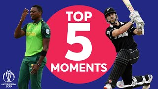 Williamson Rabada  New Zealand vs South Africa - Top 5 Moments ICC Cricket World Cup 2019