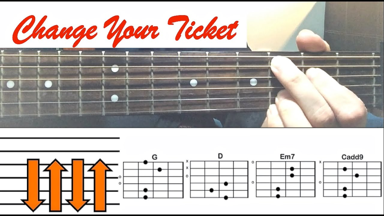 Change Your Ticket One Direction Guitar Tutorial Easy Lesson