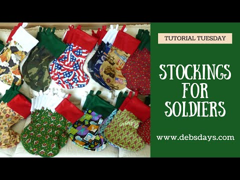 68bde69dd00 Stockings for Soldiers Tutorial - YouTube