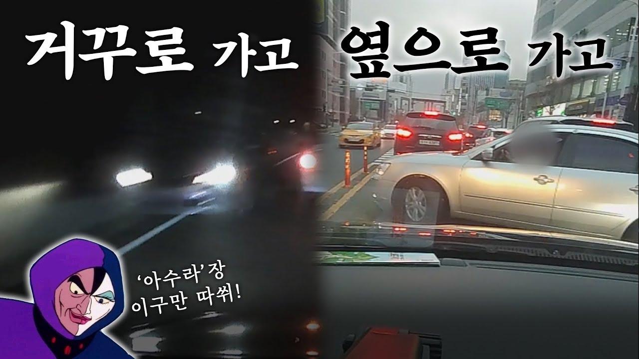 [블랙박스] 오늘도 아수라장이다. (feat. 거침없는 운전자)