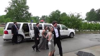 The Limo  Arrives at MCHS 2016 Prom