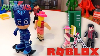 PJ Masques Toys - Catboy va à Roblox High School à Skateboard Switch