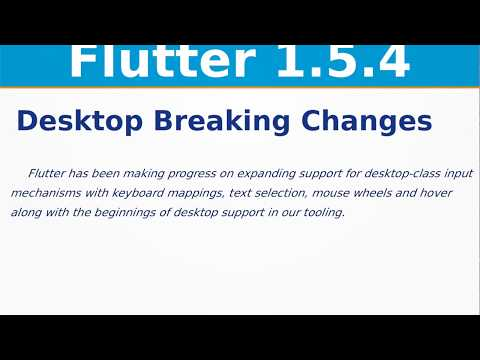 Flutter Desktop Changes | Flutter 1 5 4 Release Updates | iOS | Web