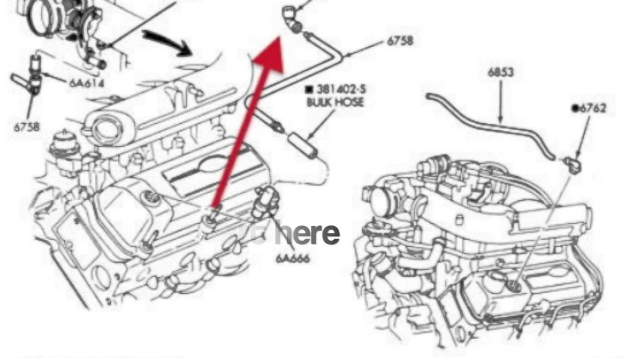 97 4 2l f150 rough idle problem youtube rh youtube com Diagram 2003 5 4 Liter Engine Ford 5.4 Engine Parts Diagram