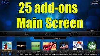 25 SHORTCUTS BELOW VIDEO ADDONS FOR KODI