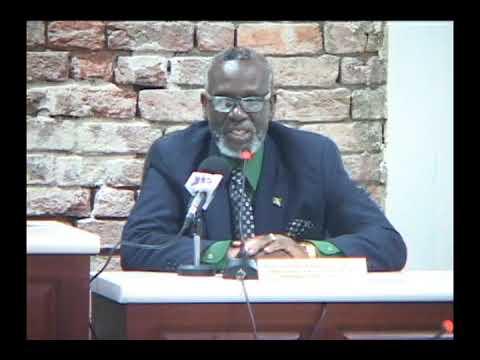 Hon.  Desmond McKenzie in Port Maria