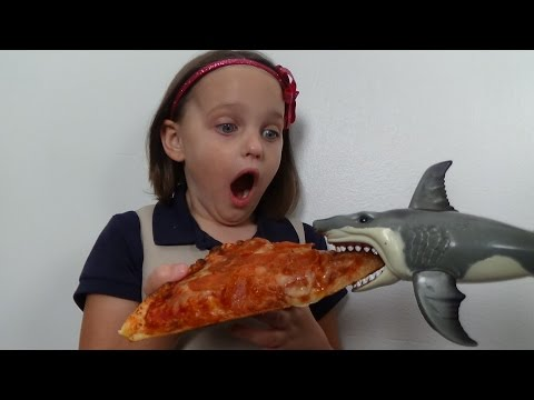 "Thumbnail: Feeding My Pet Shark, Pizza, Ice Cream & Gumballs ""Toy Sharks Video"""
