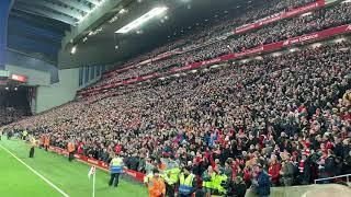 Livepool Fans Singing Mohamed Salah Song In Anfield Vs Manchester city