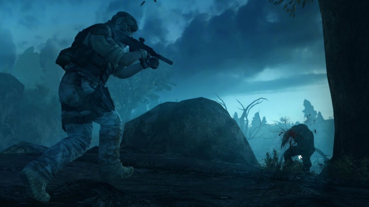 Very Beautiful Night Stealth Mission from Awesome Military Game Ghost Recon Future Soldier
