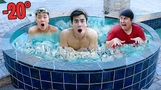 LAST To LEAVE The FREEZING ICE TUB! (EXTREME CHALLENGE)