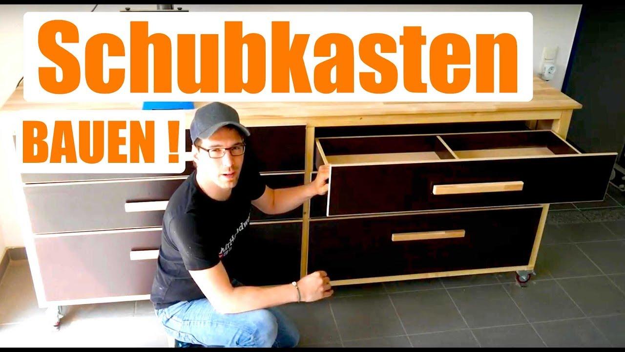 stabilen schubkasten schnell und einfach selber bauen anleitung youtube. Black Bedroom Furniture Sets. Home Design Ideas