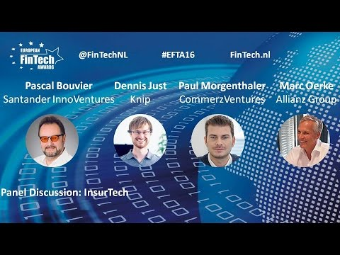 InsurTech panel discussion at European FinTech Awards & Conference 2016 Amsterdam
