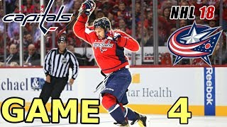 NHL Washington Capitals vs Columbus Blue Jackets Game 4 Playoffs Predictor