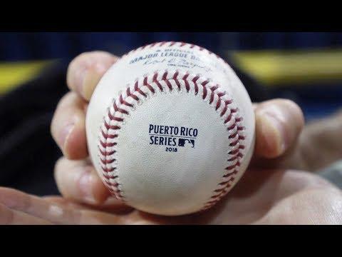 MLB action in San Juan, Puerto Rico -- Hiram Bithorn Stadium