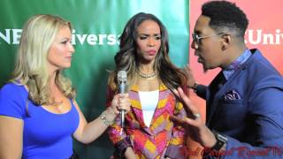 "Michelle Williams & Deitrick Haddon of ""Fix My Choir"" at NBCUniversal"
