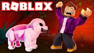 THE HORROR STORY ABOUT THE HUND IN THE KELLER IN ROBLOX!