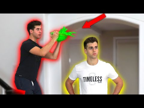 SLIME PRANK ON MY BROTHER!! **messy**