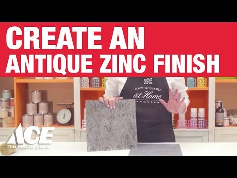 How To Create An Antique Zinc Finish   Ace Hardware