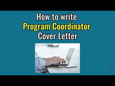 How To Write Program Coordinator Cover Letter - Sample