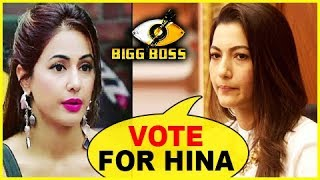 Gauahar Khan Wants Fans To VOTE FOR Hina Khan  Bigg Boss 11