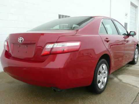 2008 Toyota Camry Le Red Tan Cd Abs 90k Great Deal Naperville Illinois