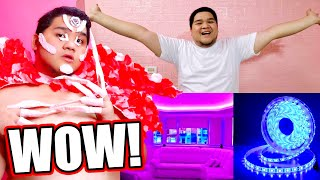 KINABIT NA ANG LED LIGHT AT BRICK WALL (Feat. LADY GAGA HA HA HA) | LC VLOGS #354