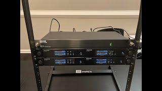 4x Shure QLXD and UA844+SWB setup   qlx-d antenna and power distribution setup