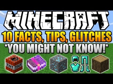 ✔ 10 Facts, Tips, Glitches, Things You Didn't Know About Minecraft (Part 4)