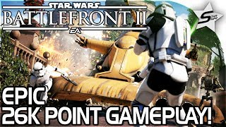 NEW STAR WARS BATTLEFRONT 2 GAMEPLAY - EPIC 26K POINT GAME -EPIC Heavy, DARTH MAUL, Officer Gameplay