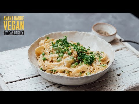 BEST EVER VEGAN CARBONARA | @avantgardevegan by Gaz Oakley