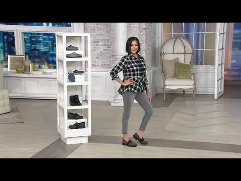 8ebac5487a1 MEPHISTO Leather Slip-On Loafers - Loriane on QVC - YouTube