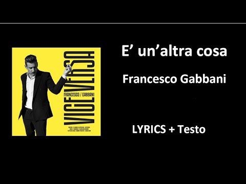 E' Un'altra Cosa -Francesco Gabbani (OFFICIAL LYRICS + Testo)