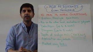 AQA A2 Economics - 10 & 15 Mark Questions - Exam Technique (Econ 3&4)