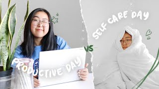 a productive day + a self care day 🌱 self-isolation as a high school senior