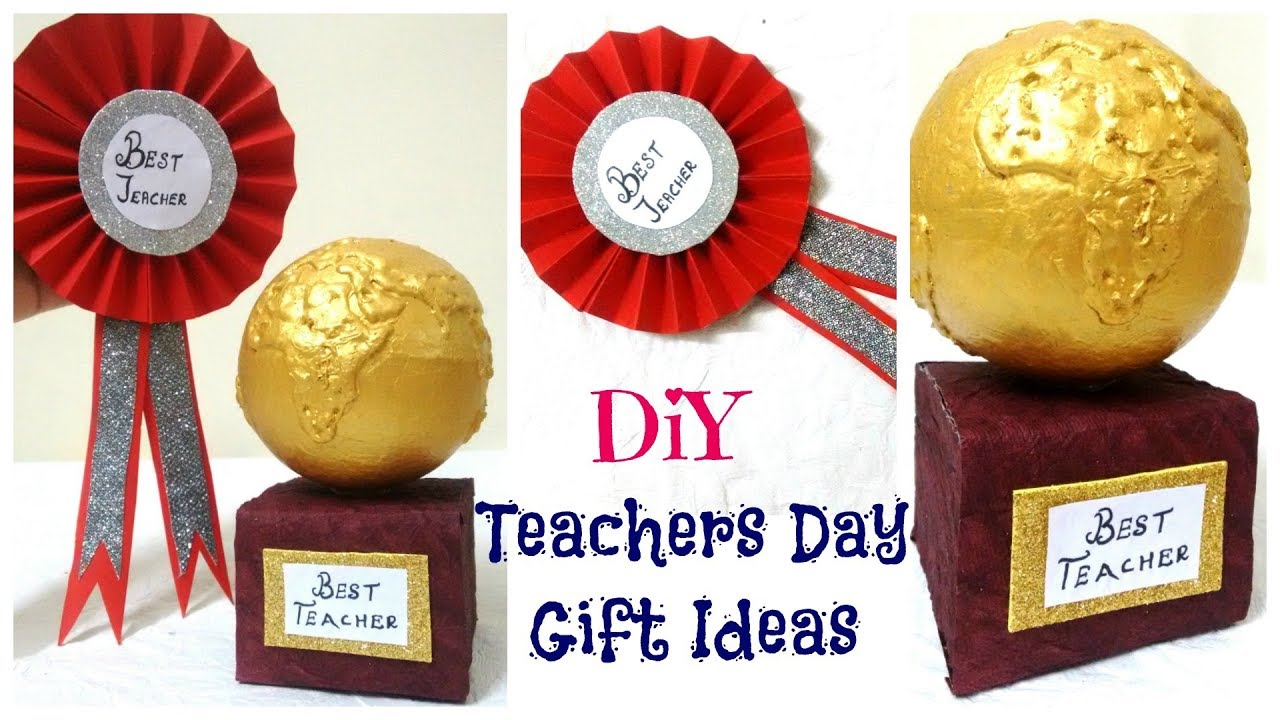 Teachers Day Gift Ideas 2 Easy Diy Badge And Trophy Youtube