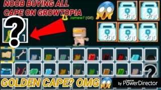 Growtopia - Noob Buying All Cape On Growtopia! [ GOLDEN CAPE!? ] 😱 OMG!