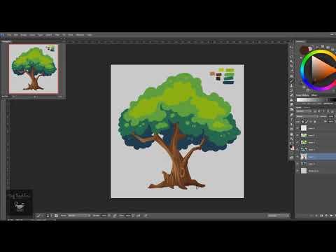 Hướng dẫn vẽ bằng Wacom -  Quá trình vẽ một cái cây bằng Photoshop