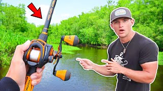 This SMALL Creek is LOADED w/ Bass! (River Fishing)